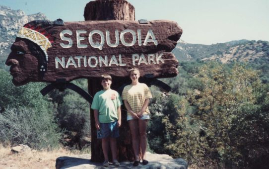 My brother and me at Sequoia National Park
