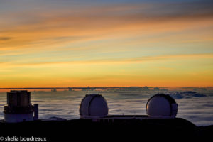 Sunset at the top of Mauna Kea