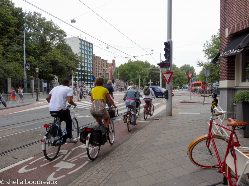 Amsterdam - There is more room to ride a bike than to drive!