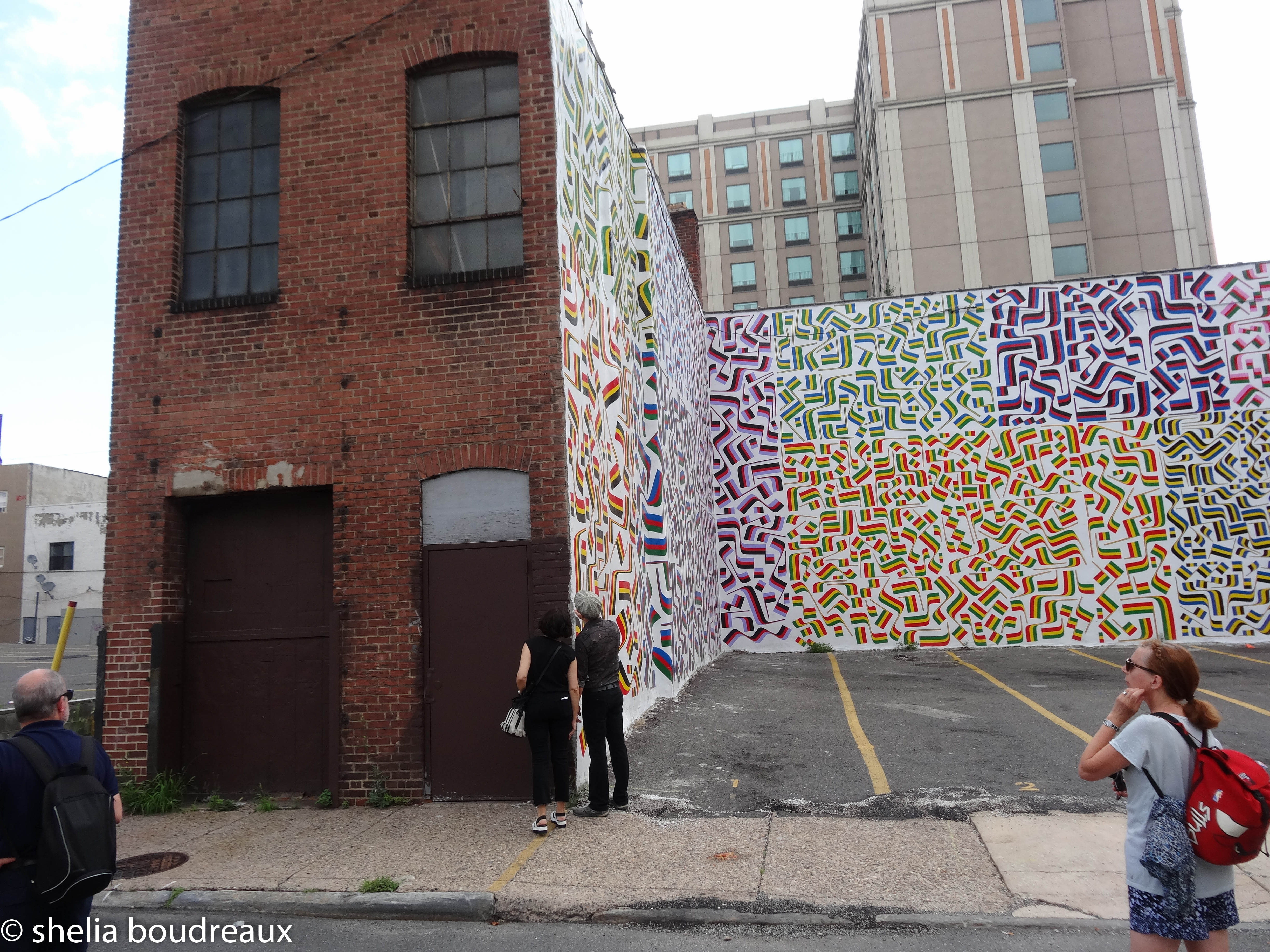 Isaac Lin's new mural on Arch Street Philadelphia Mural Tour